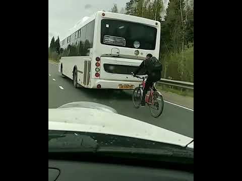 В Сыктывкаре велосипедист ехал со скоростью 80 км/ч