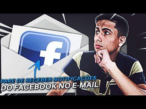 Como desativar as notificações do facebook no seu e-mail