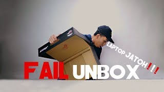 "Video GAGAL UNBOX ""LAPTOPNYA JATOH!"" 