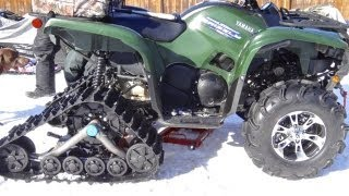 5. Camoplast Tatou T4S Track Install On Yamaha Grizzly 700 - Mar.3 2013