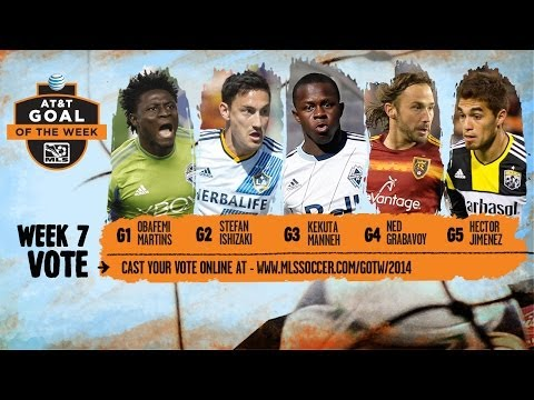 Video: 2014 AT&T Goal of the Week Nominees: Week 7