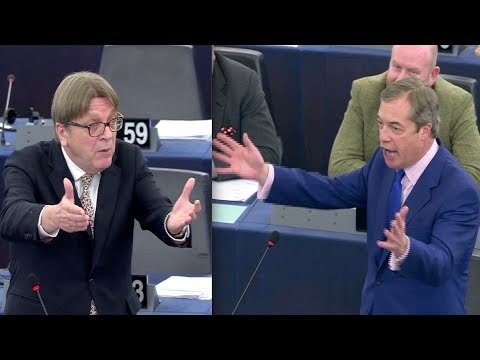Brexit: Nigel Farage Laughs In Verhofstadt's Face After Attack On Farage's Lust For Money