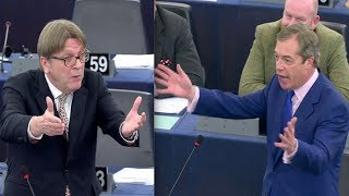 Video BREXIT: Nigel Farage LAUGHS in Verhofstadt's face after attack on Farage's lust for money MP3, 3GP, MP4, WEBM, AVI, FLV Agustus 2019