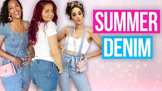 9 Easy Summer Denim Outfit Ideas! (Style 3 Way) by Clevver Style