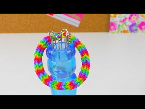 Loom Bands Quadra Fishtail Bracelet mit Strickliesel / Quadra Armband How To | deutsch