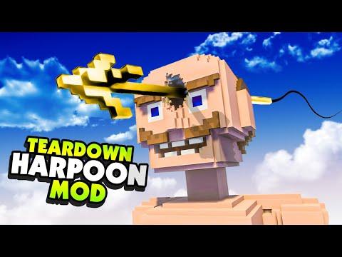 Launching a HARPOON Through A GIANT HUMAN Head - Teardown Mods