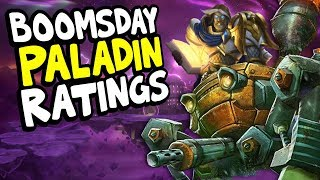 BOOMSDAY PALADIN CARD RATINGS | The Boomsday Project | Hearthstone