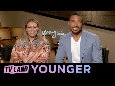 Fan Q&A w/ Hilary Duff & Charles Michael Davis | Younger (Season 5) | TV Land