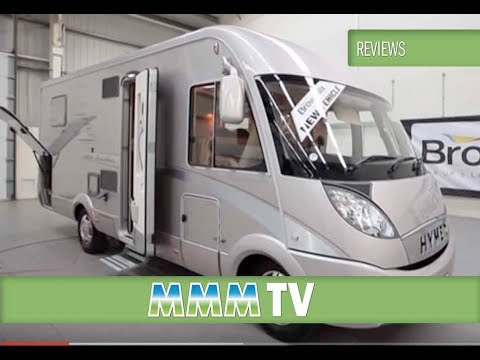 698 - Motorhome expert Peter Vaughan looks over the Hymer B 698 while at Brownhills (Europes Largest Motorhome Dealer) http://www.outandaboutlive.co.uk/