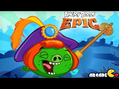 Angry Birds Epic: Prince Porky Vs Giant Ghost Bad Piggies Cave 3 Misty Hollow 6