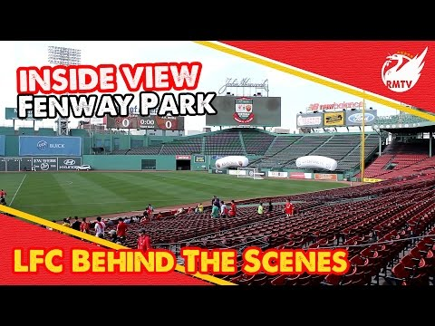 View - The view inside Fenway Park after it's successfull conversion from a Baseball diamond to a Football pitch ahead of Liverpool's friendly versus Roma in Boston.... The Redmen TV is Uncensored...