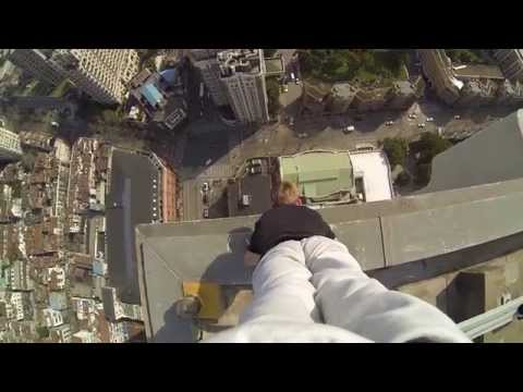 Handstand on the edge of a 40story building