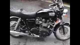 10. 2007 Triumph Bonneville Black 2300 miles excellent shape last year carb 865cc