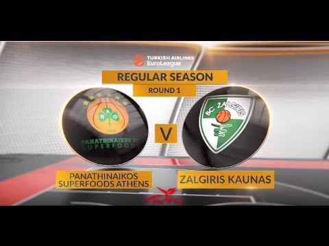EuroLeague Highlights RS Round 1: Panathinaikos Superfoods Athens 84-76 Zalgiris Kaunas