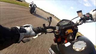 7. DUCATI HYPERMOTARD RACES SPORTBIKES!!!! Warning poor camera angle!