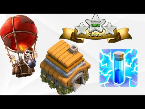 Town hall 6 balloon lightning attack strategy /clash of clans/ (INDIAN WARRIOR)🇮🇳🇮🇳🇮🇳