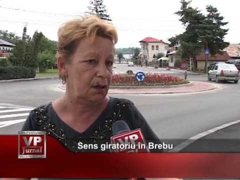 Sens giratoriu în Brebu