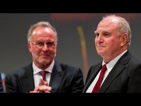 Letzte Rede von Uli Hoeneß als Präsident des FC Bayer ...