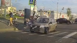 Аварии велосипедистов 2015 часть 2