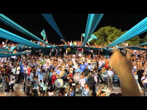HINCHADA DE BELGRANO CONTRA UNION...ALENTANDO SIEMPRE - Los Piratas Celestes de Alberdi - Belgrano