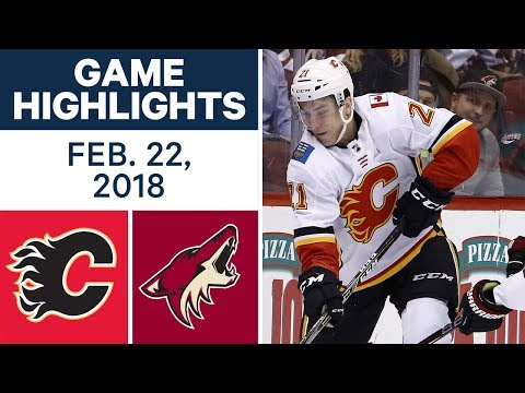 Video: NHL Game Highlights | Flames vs. Coyotes - Feb. 22, 2018