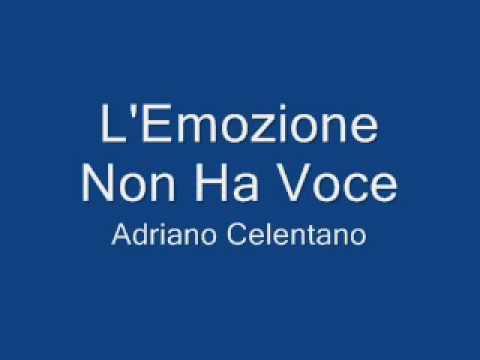L'Emozione non ha voce - Adriano Calentano - Musica: Gianni Bella - Testo: Mogol (видео)