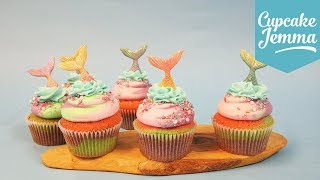 How To Make Beautiful MERMAID CUPCAKES | Cupcake Jemma by Cupcake Jemma