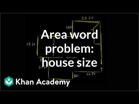 Area Word Problem House Size Video Khan Academy