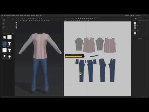 Marvelous Designer 6.5_Unified Texture (видео)