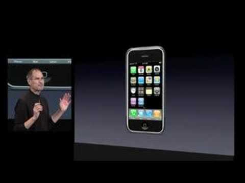 App Store - Apple iPhone SDK announcement - Steve Jobs announces the iTunes App store for the iPhone and iPod touch. Coming in June 2008, and developers will get a 70-30...