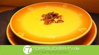 Weiße Winterwurzel Suppe mit glacierten Thymian-Maronen | Rezeptempfehlung Topfgucker-TV