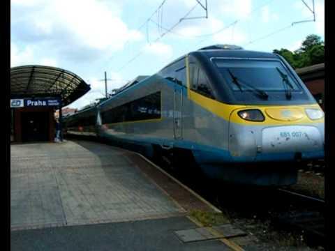 Pendolino na Stacji Praha Hlavní Nádraží