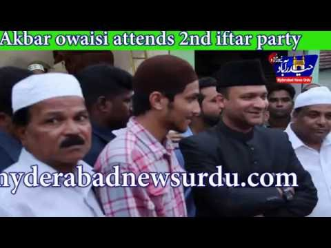 Video 2nd  iftar Party /Akbar owaisi attends iftar party @ Narqhi Phool Bagh download in MP3, 3GP, MP4, WEBM, AVI, FLV January 2017