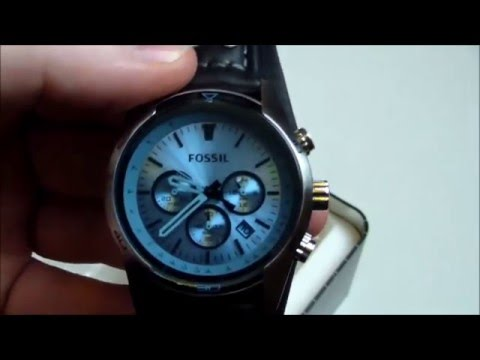 Fossil Uhr Coachman ch2564 Chronograph - Unboxing & Test