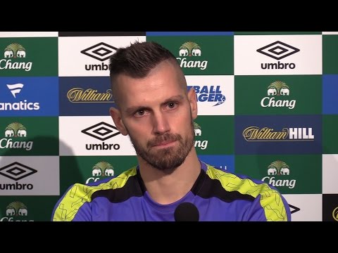 Press Conference With Morgan Schneiderlin After He Joins Everton