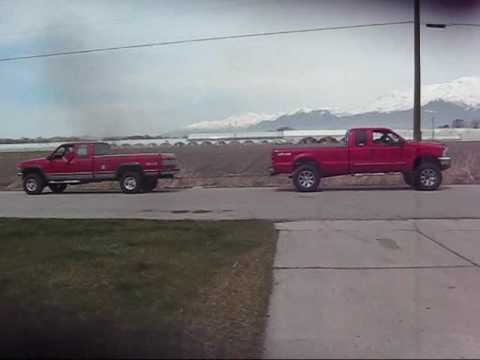 1993 Chevy 6.5 vs. 1999 Ford 7.3 Tug of War