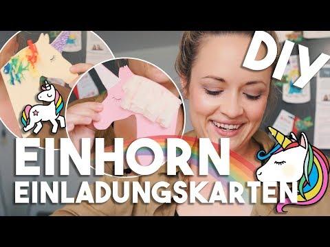 EINHORN DIY 🦄 Einladungskarten I Kindergeburtstag I Mellis Blog