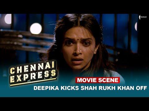 Deepika Kicks Shah Rukh Khan off   Movie Scene   Chennai Express    A Film By Rohit Shetty