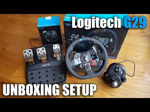 Unboxing and setup of a Logitech G29 steering wheel for a PS3/PS4/PC