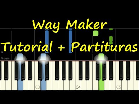WAY MAKER - Piano Tutorial Cover Facil + Partitura PDF Sheet Music Easy Midi