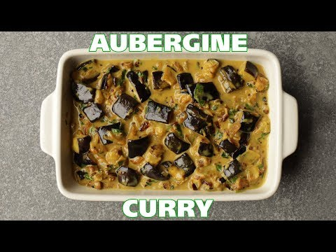 Delicious Vegan Aubergine curry / Eggplant / Baigan / Brinjal - Food with Chetna