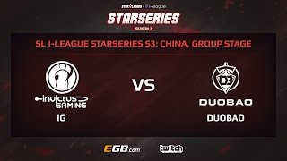 Invictus Gaming vs Team DuoBao, Game 2, SL i-League StarSeries Season 3, China