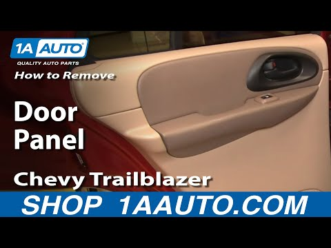 How To Remove Install Rear Door Panel Chevy Trailblazer 02-09 1AAuto.com
