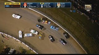 NASCAR Camping World Truck Series 2017. Eldora Dirt Derby. Pile Up