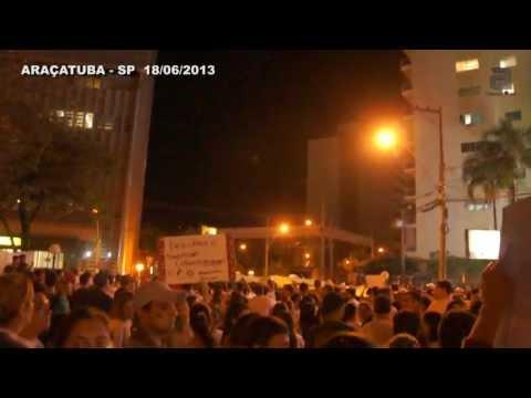 MANIFESTAÇÃO EM ARAÇATUBA 18/06/2013 - TV ARAÇATUBA