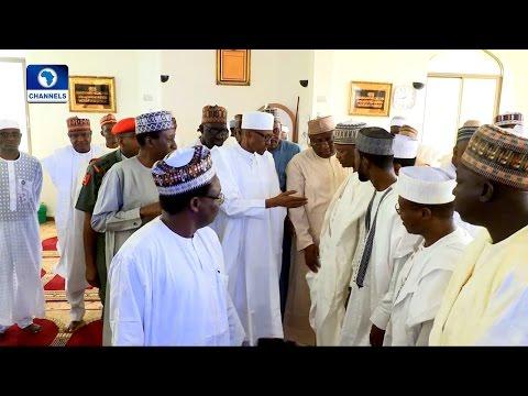 News Across Nigeria: Buhari Makes Public Appearance, Attends Friday Prayers