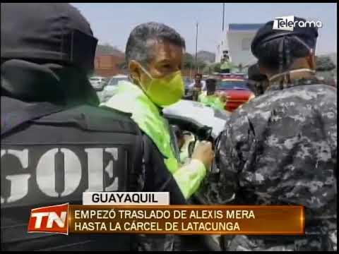 Empezó traslado de Alexis Mera hasta la cárcel de Latacunga