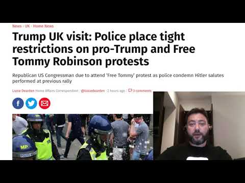 The Anti Trump and Free Tommy Protests in London