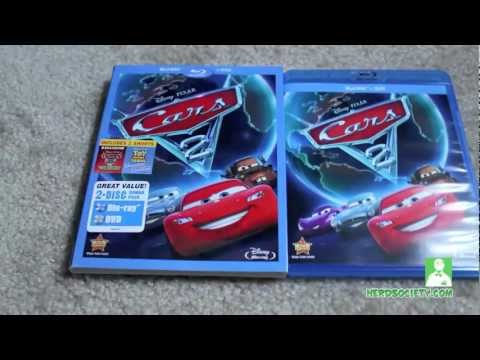 0 Unboxing Cars 2 Blu ray/DVD Combo