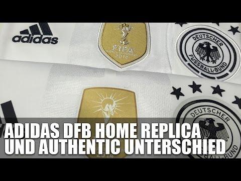 Adidas DFB Authentic Trikot und Replica 2016/2017 - Unterschiede